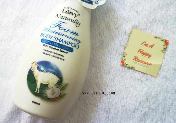 gambar review ke-1 untuk Leivy Naturally Foam Body Shampoo Goats Milk