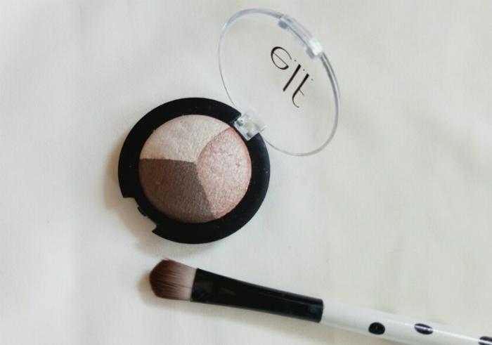 image review ELF Baked Eyeshadow Trio Peach Please