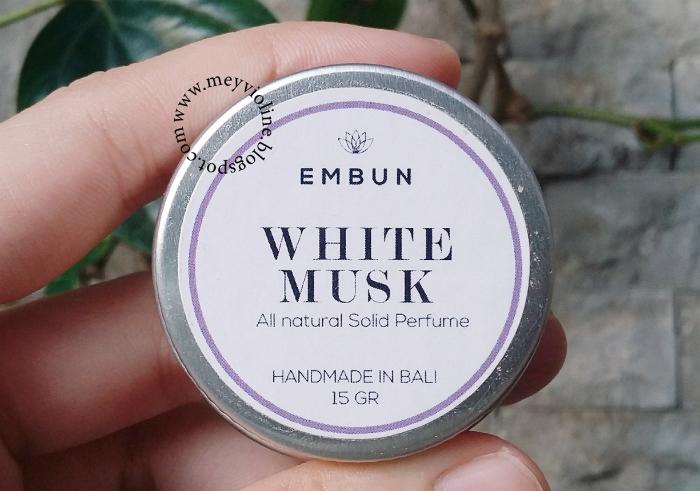 image review Embun Natural Solid Parfum White Musk