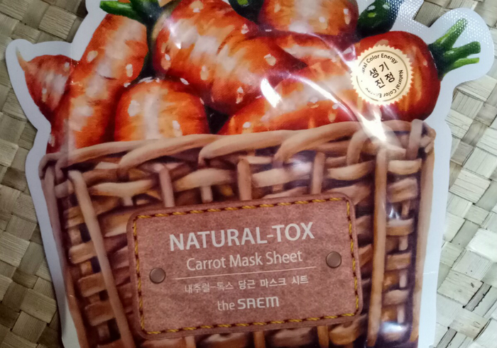 image review The Saem Natural Tox Carrot Mask Sheet