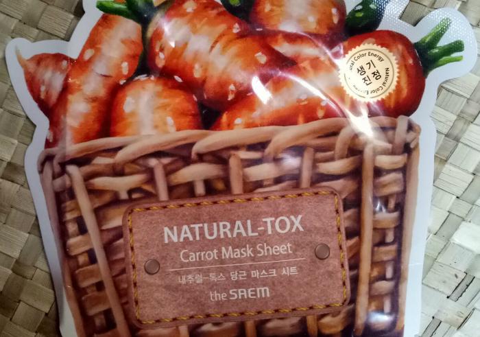 image review The Saem Natural Tox Carrot Mask Sheet