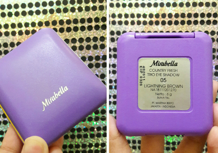 gambar review ke-1 untuk Mirabella Trio Eyeshadow Lightening Brown
