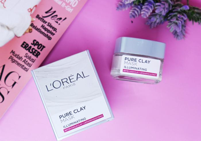 gambar review ke-1 untuk L'oreal Paris Pure Clay Mask Illuminating