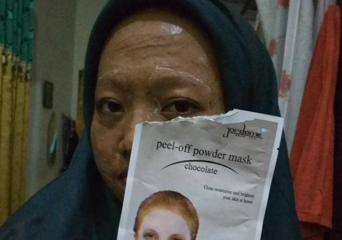 image review Jordanie Peel Off Powder Mask Chocolate