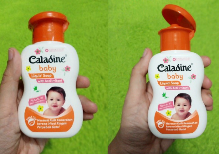 gambar review ke-2 untuk Caladine Baby Liquid Soap With Anti Irritant