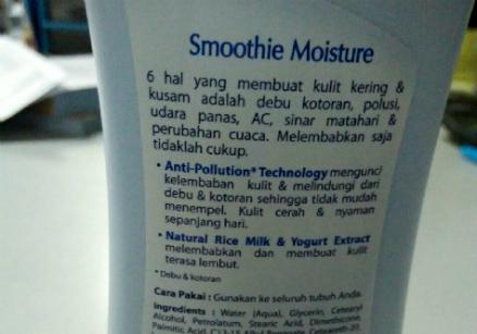 gambar review ke-2 untuk Biore Body Lotion Smoothie Moisture