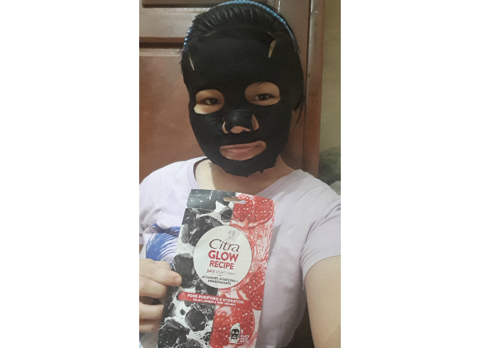 Citra Glow Recipe Juicy Sheet Mask Activated Charcoal + Pomegranate