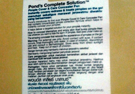 gambar review ke-5 untuk Pond's Complete Solution Pimple Cover & Care Concealer Pen